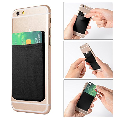 xcsource-2pcs-elastic-lycra-cell-phone-wallet-case-credit-id-card-holder-pocket-stick-on-3m-adhesive