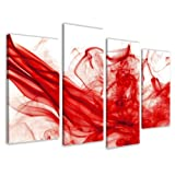 Bild auf Leinwand RED-ART 130 x 80 cm 4 Teile Modell-Nr. XXL 6120 Bilder fertig gerahmt auf echtem Holzrahmen riesig. Ausfhrung Kunstdruck als Wandbild auf Rahmen. Gnstiger als lbild Gemlde Poster Plakat mit Bilderrahmen