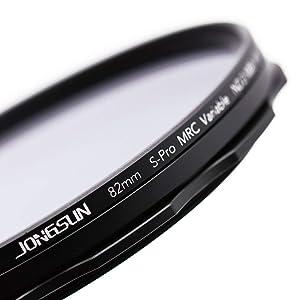Lens Cloth Kit,Camera Neutral Density Filter S-Pro MRC 16 Layers Nano Coatings JONGSUN 77mm Variable ND Filter More Than 10 Stop ND2-ND1000 Stepless Adjustment Graduated