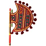 Shop It Now Home Decor Handicrafts | Home Decor Gifts | Home Decorative Items In Living Room, Bedroom | Kutch Gujarati Art Work Ethnic Colorful Hand Fan - B073RG8Q59