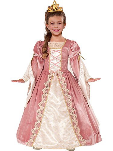 Designer Collection Deluxe Victorian Rose Costume Dress, Child Small