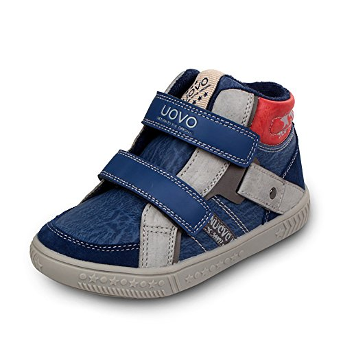 uovo-leisure-shoes-high-top-easy-pull-on-with-2-velcros-for-kids-boys-girls-uk-size-125-eu-31-us-siz