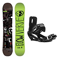 Flow Verve Stealth 3 Snowboard and Binding Package by Flow