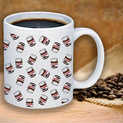 Nutella Hazel Nut Chocolate Spread Funny Coffee Mug 11 Ounce Office Gift Funny sweetened hazelnut cocoa spread