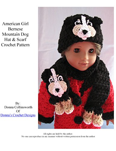 American Girl Doll Berenese Dog Hat and Scarf Crochet Pattern