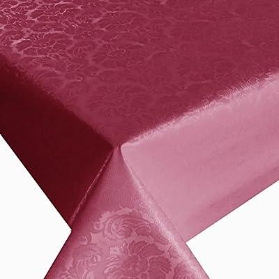 Wachstuch Breite 140 cm Länge wählbar - Blumen Relief Rot geprägtBlumen UNI - Main abwaschbare Tischdecke Gartentischdecke von DHT-WT140cm auf Gartenmöbel von Du und Dein Garten
