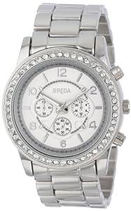 Breda Women's 2326-silver Jordan Rhinestone-Accented Watch with Link Bracelet