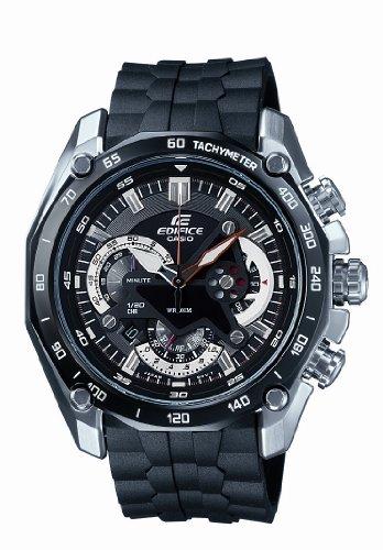 CASIO EF-550-1AVEF Edifice - Reloj de mujer de cuarzo, correa de resina color negro (con cronómetro, luz)