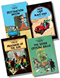 Herge The Advenures of Tintin Original Hardback Collection 4 - 4 Books RRP £43.96 (The Seven Cyrstal Balls; Prisoners of the Sun; Land of Black Gold; Destination Moon)