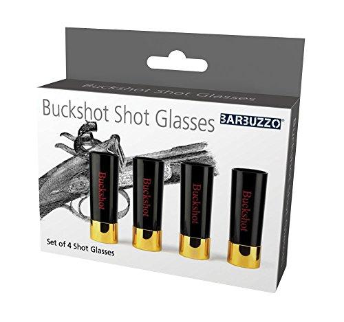 Barbuzzo Buckshot Shotglasses, Black