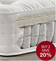 Natural 1250 Mattress - Medium Support - 7 Day Delivery