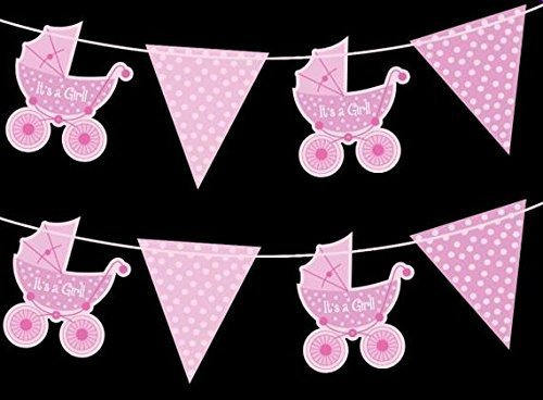 "Banderoles avec fanions ""It's a Girl"" 2 m"