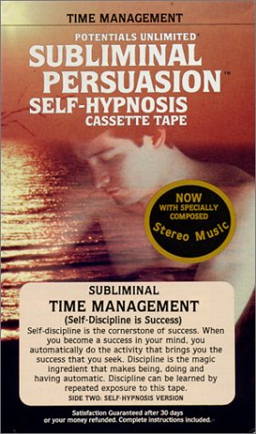 Time Management: Cassette (Self-Discipline Is Success)