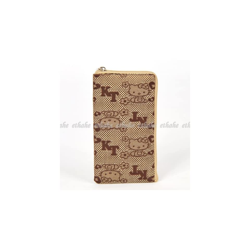 Hello Kitty Plain Mobile Cell Phone Bag Brown