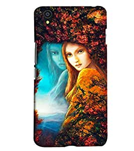 Blue Throat Girl Painting Hard Plastic Printed Back Cover/Case For OnePlus X