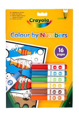 Crayola - Colour By Number 6 Mini Markers