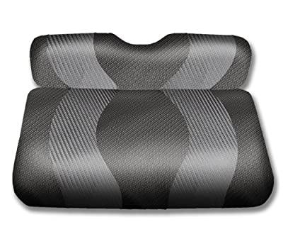 Madjax WAVE 1994-Up Black/Dark Grey Carbon Front Seat Covers for EZGO TXT and RXV Golf Carts
