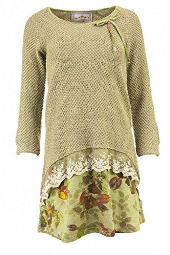 Vestito asimmetrico salse Mamatayoe-Maglione, colore: beige beige 38