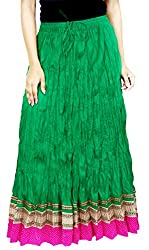 Rangreja Women's Skirt (WESK101GP36_Green_36)