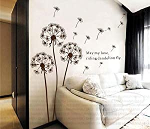 Hunnt® Dandelion Nursery Kids Room Removable Quote Vinyl Wall Decals Stickers