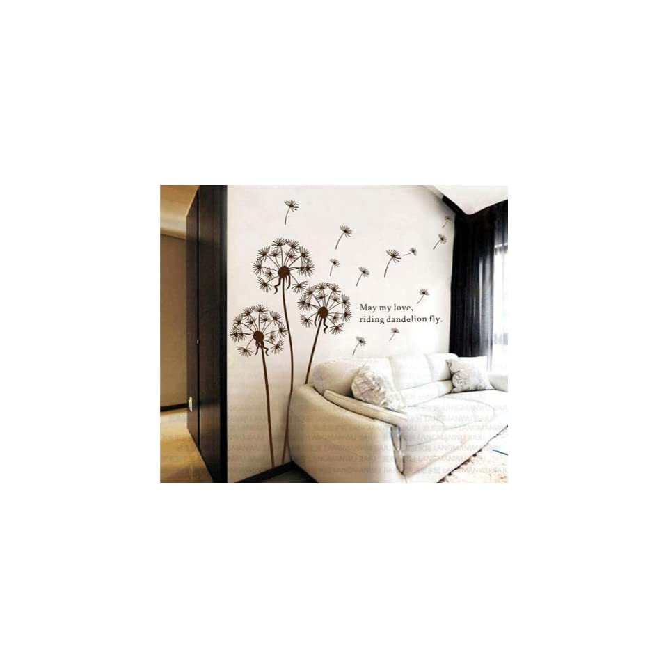 Dandelion nursery kids room removable quote vinyl wall decals stickers AY695