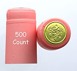 Pink PVC Shrink Capsules-500 Count