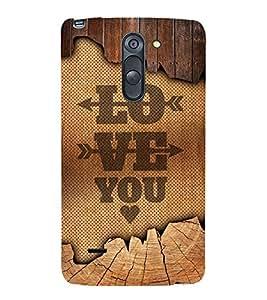 Love You Design 3D Hard Polycarbonate Designer Back Case Cover for LG G3 Stylus :: LG G3 Stylus D690N :: LG G3 Stylus D690