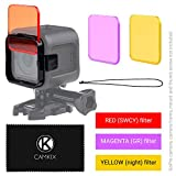 Diving Lens Filter Kit for GoPro HERO 4 Session Camera - Enhances Colors for Various Underwater Video and Photography Conditions - Vivid Colors, Improved Contrast, Night Vision