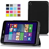IVSO Slim Smart Cover Housse pour Acer Iconia W4-820 Windows 8.1 Tablette (Noir)