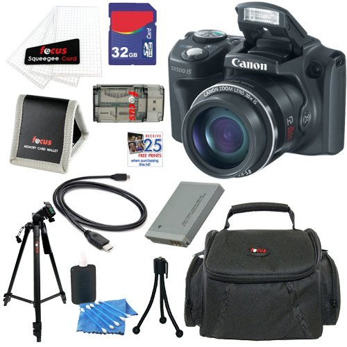 Why Should You Buy Canon PowerShot SX500 IS 16.0 MP Digital Camera (Black) + NB-6L Battery + 9pc Bundle 32GB Deluxe Accessory Kit