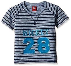 Disney Boys' T-Shirt (TC 2677_Lt.Blue_7 - 8 years)