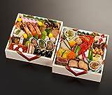 京都の料亭 濱登久 二段重 全38品 盛り付け済み 冷蔵 生おせち お届け日:12月31日