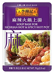 Lee Kum Kee Soup Base For Sichuan Hot Spicy Hot Pot 25-ounce Pouches Pack Of 12 by Lee Kum Kee