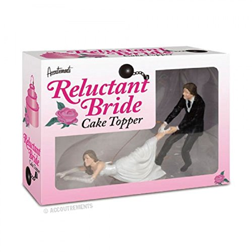 RELUCTANT BRIDE Resin Wedding Engagement Cake Topper