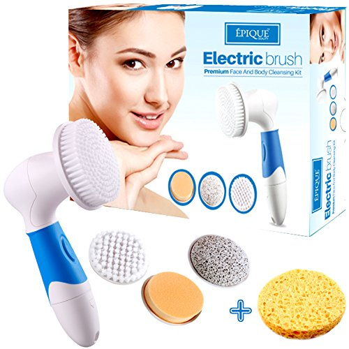 Epique Beauty Face Cleansing Brush for Facial Scrubber - Waterproof Anti-aging Spa Kit Skin Cleanser Brush - Deep Pore Exfoliating and Cleansing Body - Electric Callus Remover Tool, Suitable Women and Men (Laser To Remove Scars compare prices)