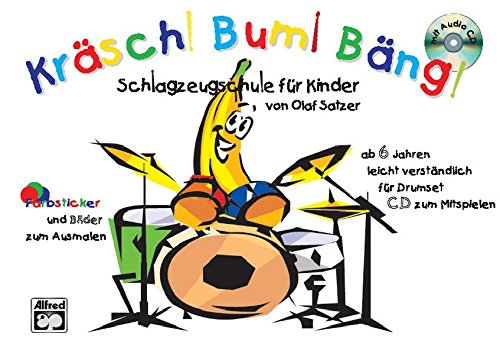 Krasch! Bum! Bang! 1: German Language Edition (Book & CD)  [Satzer, Olaf] (Tapa Blanda)