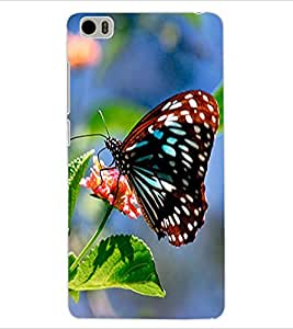 ColourCraft Butterfly Design Back Case Cover for XIAOMI MI 5