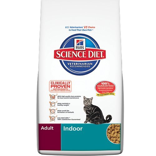 Hill's Science Diet Adult Indoor Dry Cat Food, 15.5-Pound Bag