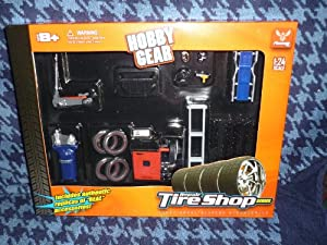 Repair Tire Shop Series 1:24 Scale - 20 pc set