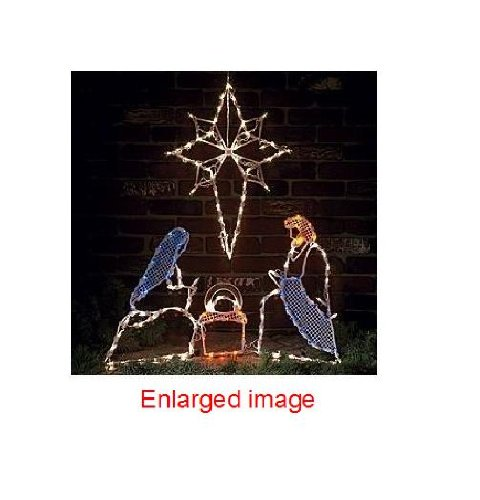 Christian christmas yard decorations for 30 lighted nativity christmas window silhouette decoration
