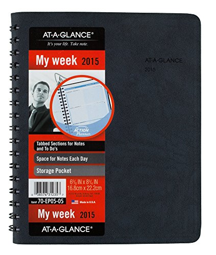 AT-A-GLANCE Weekly Appointment Book 2015, The Action Planner, Wirebound, 6.88 x 8.75 Inch Page Size (70EP05-05)