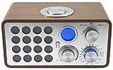 クマザキエイム Bearmax 木目調ラジオクロック WCR-002