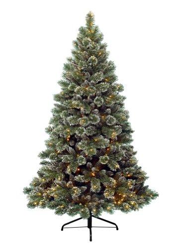 Kaemingk 671561 Finley Pine Frost, Soft Nadel PVC, innen, Innentrafo, 288 warmweiße LED, Höhe 180 cm thumbnail