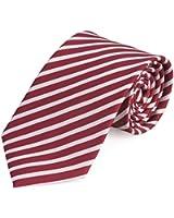 Cravate de Fabio Farini en rouge blanche
