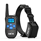 Colpet Dog Training Collar - Colpet CP-TC06 Rechargable LCD 330yd Remote Dog Shock Collar with Beep, Vibration and Shock Electronic Collar, Black
