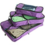 TravelWise Packing Cube System - Durable 3 Piece Set (Small, Medium, Large)