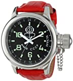 Invicta 7002 Men's Signature Russian Diver GMT Black Dial Leather Strap Watch