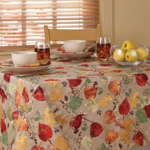 Holiday table linens tablecloths thanksgiving for Table 52 thanksgiving