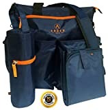 #1 Diaper Bag by Auben – Stroller Organizer – Baby Bag – BONUS Changing Mat & Bottle Bag (Blue)