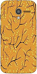 Snoogg A Seamless Pattern With Leaf Designer Protective Back Case Cover For M...